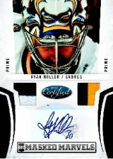 2010/11 Panini Certified Masked Marvels Auto Jersey Miller