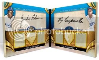 2011 Triple Threads Dual Cut Jackie Robinson/Campanella