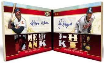 2011 Triple Threads Hank Aaron/Jason Heyward Dual Autograph