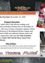 10/11 Panini NHL Adrenalyn Code Back