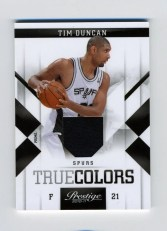 2010/11 Panini Prestige True Colors Tim Duncan Prime Jersey