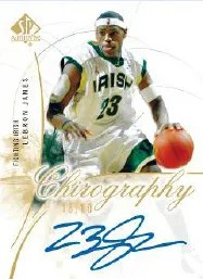 2010/11 Sp Authentic LeBron James Chirography Autograph