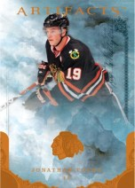 2010/11 UD Artifacts Jonathan Toews Hockey Card