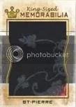 2010 Sport Kings Gum George St Pierre King Sized Memorabilia Card