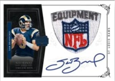2010 Panini National Treasures Sam Bradford NFL Patch Autograph RC Card