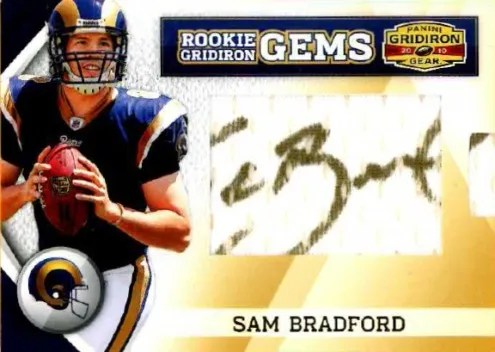 2010 Panini Gridiron Gear RC Hidden Gems Sam Bradford Autograph Card