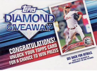 2011 Topps Diamond Anniversary Redemtion Code Card