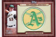 2011 Topps Trevor Cahill Throwback Patch Card