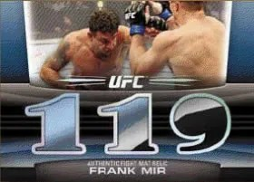 2011 Topps UFC Title Shot Frank Mir Mat Relic Diamond 1/1 Triple Parallel