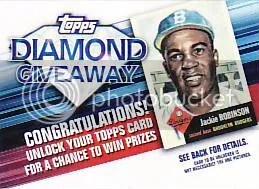 2011 Topps Diamond Giveaway Code