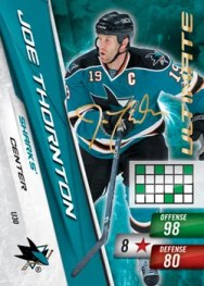 2010-11 Joe Thornton Ultimate Signature Adrenalyn