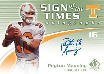 2010 Upper Deck UD SP Authentic Sign of the Times Peyton Manning Autograph