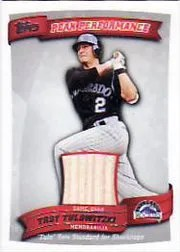 2010 Topps Troy Tulowitzki Bat Card