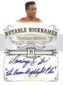 2009/10 Panini National Treasures Notable Nicknames Dominique Wilkins Autograph Card