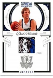 2009/10 Panini National Treasures Dirk Nowitzki Century NBA Logo Prime Jersey