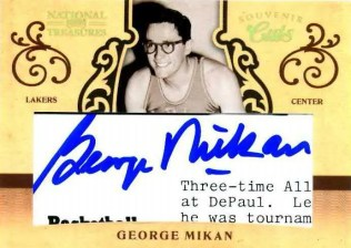 09/10 Panini National Treasures George Mikan Cut Autograph