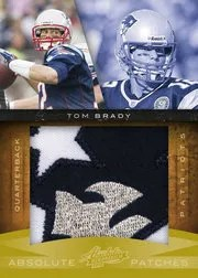 2010 Playoff Absolute Memorabilia Tom Brady Jumbo Patch