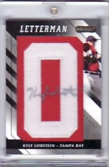 2008 Razor Letterman Kyle Lobstein RC Patch Auto