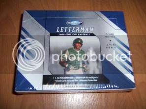 2008 Razor Letterman Baseball Box