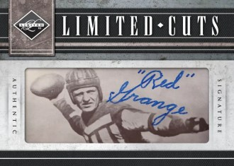 2010 Panini Limited Red Grange Cut Autograph Signature Card