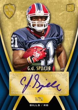 2010 Topps Supreme CJ Spiller Autograph Blue Parallel Version