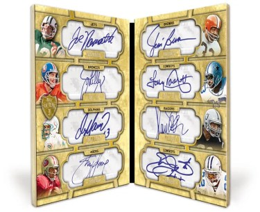 2010 Topps Supreme 8 Autograph Brown, Young Namath, Elway, Marino, Smith, Allen, Dorsett