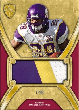 2010 Topps Supreme Adrian Peterson Jumbo Jersey Relic Card #/25