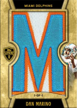 2010 Topps Supreme Letter Patches Dan Marino #1/1