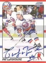 2010/11 Score Pat LaFontaine 1990 Score Buyback Autograph
