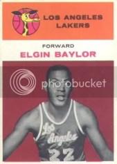 1961/62 Fleer Elgin Baylor Rookie RC