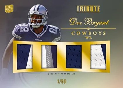 2010 Topps Tribute Dez Bryant Quad Relic Card