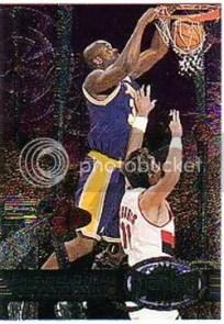 1997/98 Skybox Metal Reebok Shaquille O'Neal Bronze