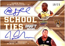 2009/10 Upper Deck Draft Edition School Ties Paul/Johnson