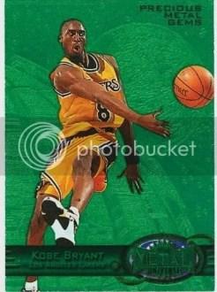 1997/98 Skybox Metal Kobe Bryant Precious Metal Gems Green /100