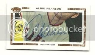 2010 Topps 206 Albie Pearson Cut Autograph Card