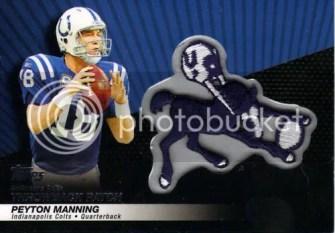 2010 Topps Peyton Manning Throwback Patch