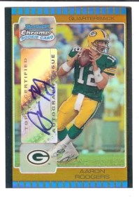 2005 Bowman Chrome Aaron Rodgers Auto Gold /1