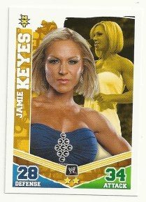 2010 Slam Attax Mayhem Jamie Keyes NXT Card