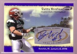 2010 Sage Aspire Danny Woodhead Hula Bowl Autograph