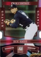 2010 Donruss Elite EEE Rick Hague Red Parallel