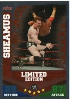 2010 Slam Attax Mayhem Sheamus Limited Edition Card