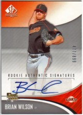 2006 Sp Authentic Brian Wilson Autograph Rookie RC Card