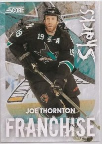 2010/11 Score Joe Thornton Franchise Insert