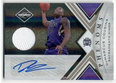 2010/11 Panini Limited DeMarcus Cousins Autograph Phenoms Material RC Card