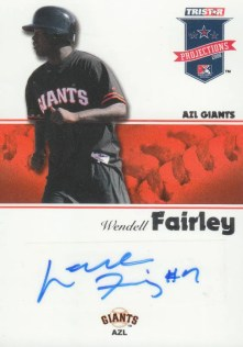 2008 TriStar Projections Wendell Fairley Autograph