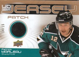 2010/11 Upper Deck Patrick Marleau Game Patch