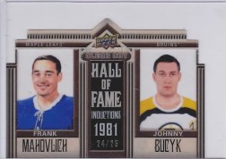 2010/11 Upper Deck Clear Cut Hall of Fame
