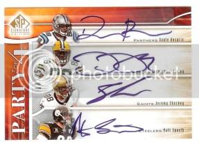 2009 Sp Signature Party of 4 Four Autograph