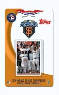 2010 Topps San Francisco Giants World Series Team Set