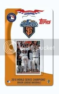 2010 Topps San Francisco Giants World Series Team Set